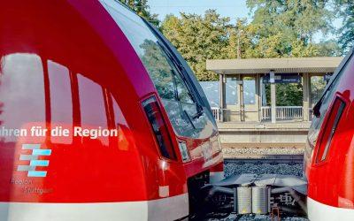 Werbung an den S-Bahnen